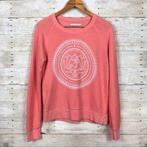 Spiritual Gangster Salmon Pink Lotus Om Sweatshirt